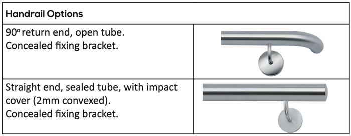 2 Point Side Fix - Handrail Options