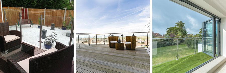 Decking balustrades