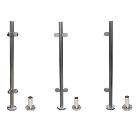Standard baluster posts with threaded holes